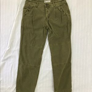 FREE PEOPLE ARMY GREEN PANTS